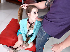 Ravishing sexy real estate agent nymph Samantha Hayes gets a rock-hard raunchy fuck from one of her customers strong humungous lollipop then gets a cute cumshot right after.